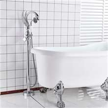 Fontana Sénart Chrome Finish Swan Shape Bath Tub Faucet Single Handle with Hand Shower Type B