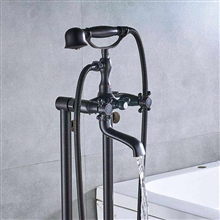 Fontana Le Havre Oil Rubbed Bronze Floor Standing Telephone Style Bath Shower Faucet