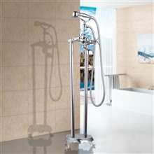 Fontana Le Havre Chrome Floor Standing Telephone Style Bath Shower Faucet