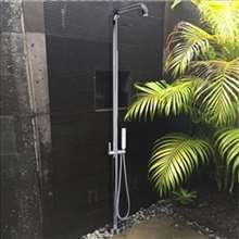 Fontana Sète High Quality Brass Outdoor Shower Faucet in Chrome Finish with Rainfall Shower Head