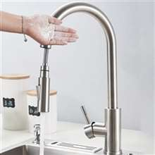 Fontana Cholet Brushed Nickel Finish Stainless Steel Kitchen Faucet with Pull Down Sprayer