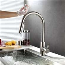 Fontana Sénart Brushed Nickel Finish with Touch Sensor Pull Down Kitchen Faucet