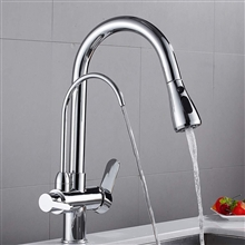 Fontana Marseille Pull Down with Filter Control Kitchen Faucet in Chrome Finish