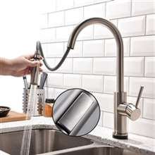 Fontana Dijon Brushed Nickel Finish with Pull Down Sprayer Kitchen Sink Faucet