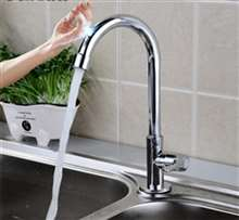 Fontana Chatou Chrome Single Handle Cold Sensor Touch Kitchen Sink Faucet