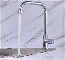 Fontana Bavaria Single Handle Cold Kitchen Sink Faucet in Chrome
