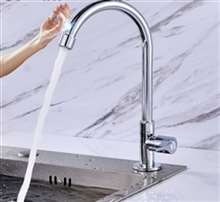 Fontana Marseille Gooseneck Zinc Alloy Single Handle Cold with Sensor Touch Kitchen Faucet