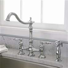 Liguria Dual Handle Kitchen Sink Faucet with Spray
