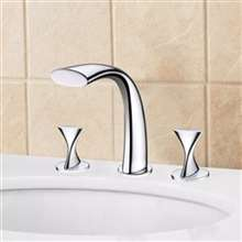 Oceane Chrome Finish Double Handle Bathtub Faucet