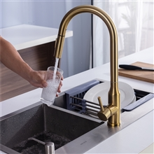 Fontana Marseille Gold 360 Rotation Kitchen Sink Faucet with Pull Out Sprayer