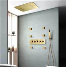Fontana Creteil Rainfall Waterfall Thermostatic LED Smart Musical Shower Head Set Touch Panel Controlled