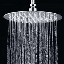 "Fontana Creteil Ultra-Thin Chrome Finish Stainless Steel 10"" Bathroom Shower Head"