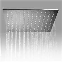 "Fontana Sète 20"" Large Square Ceiling Mounted Stainless Steel Rainfall Shower Head in Chrome"