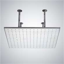 "Fontana Toulouse 20"" Large Brass Chrome Ceiling Mounted High Quality Large Rainfall Bathroom Shower Head"