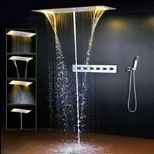 Fontana Valence Hot and Cold Water Mixer LED Ceiling Mount Shower Set