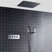 "Fontana Marsala LED Light Ceiling Mount Thermostatic 20"" Shower System with Handheld Shower"