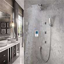 FontanaShowers Brushed Nickel Rainfall Shower Set