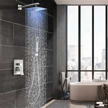 FontanaShowers Brushed Nickel Rainfall Shower Set will look great in your bathroom. Enjoy a luxurious shower.