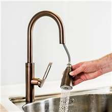 Rauma Brushed Bronze Single Hole Kitchen Faucet