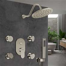Find the Perfect modern and contemporary Brushed Nickel Shower Heads at Fontana Showers to match your style and budget.