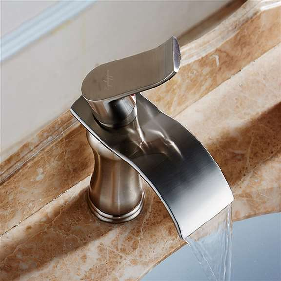 Huancayo Single Handle Water Fall Bathroom Sink Faucet