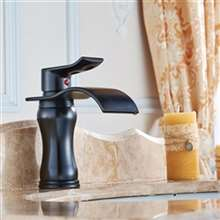Huancayo Oil Rubbed Bronze Single Handle Water Fall Bathroom Sink Faucet