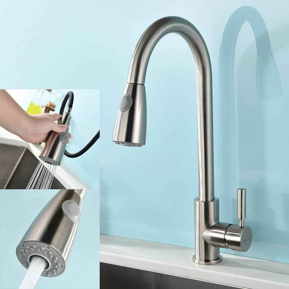 Concordia Brushed Nickel Single Handle Kitchen Sink Faucet