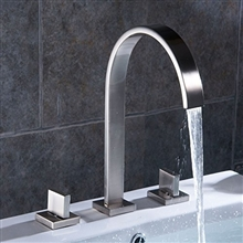 Oran Contemporary Chrome Finish Bathroom Sink Faucet