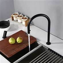 Fontana Kitchen Sink Faucet Invisible Pull Out Sprayer Double Hole Single Handle Hot And Cold Solid Brass Mixer Tap