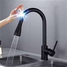 Black Touch Kitchen Faucet Luxury Pull Out Sprayer