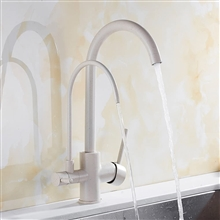 Fontana Kitchen Sink Dual Faucet Tap Water Filter Water Double Outlet in Beige