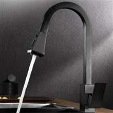Black Pull Down Kitchen Sink Faucet Brass  Kitchen Mixer Tap Health Home Faucet