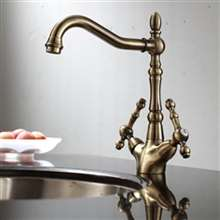 Piedmont Deck Mounted Antique Bronze Kitchen Faucet