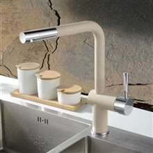 Basilicata Single Handle Brass Deck Mount Granite Yellow Kitchen Faucet