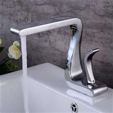 Lombardy Deck Mount Chrome Single Handle Bathroom Faucet