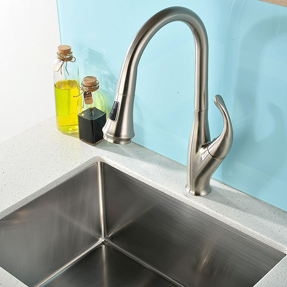 Moa Brushed Nickel Kitchen Sink Faucet