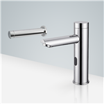 Fontana Freestanding Commercial Motion  Sensor Faucet And Automatic Soap Dispenser