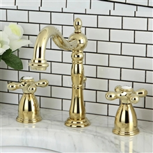 Veneto Widespread Polished Brass Lavatory Faucet
