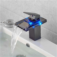 Lenox Oil Rubbed Bronze LED Color Changing Bathroom Sink Faucet