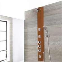 Perugia Oil Rubbed Bronze Tempered Glass Rainfall Shower Panel with Hand Shower