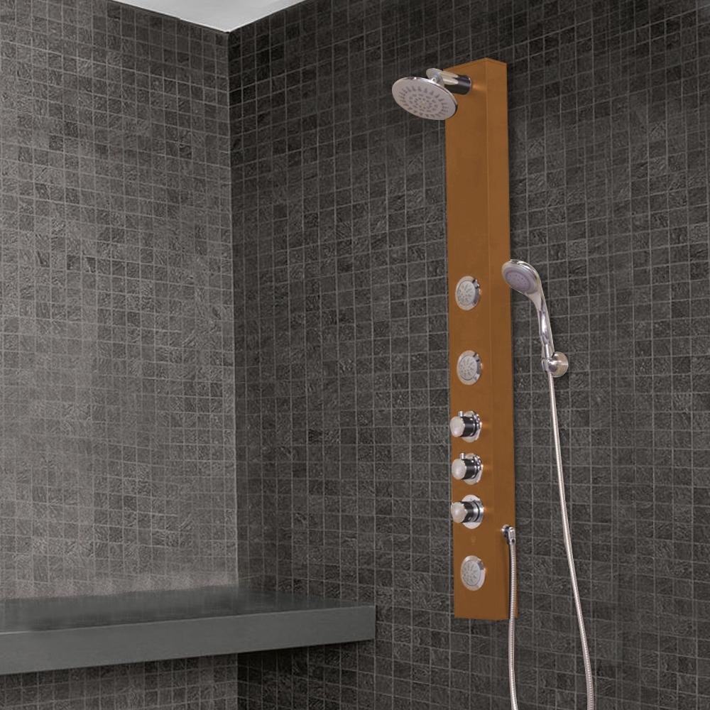 oil rubbed bronze shower panel sale fontana perugia oil
