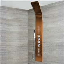 Reno  Oil Rubbed Bronze Stainless Steel Rainfall Shower Panel with Hand Shower