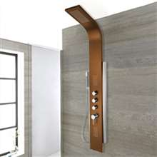 Parma Oil Rubbed Bronze Stainless Steel Rainfall Shower Panel with Handshower