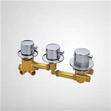 Shower room mixing valve, shower room 3/4/5 way water outlet thermostated copper head, shower room thermostatic faucet