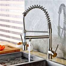 Genoa Brushed Nickel Deck Mount LED Kitchen Faucet