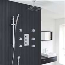 Yvelines Square Shower Head with Massage Jets