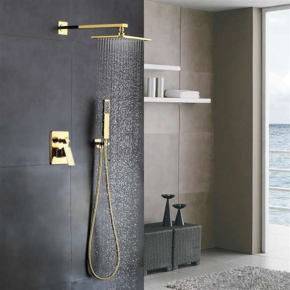 Balsamo Gold In-Wall Mixer Bathroom Shower Set