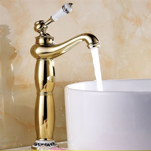 Vessel Sink Faucet Gold Finish