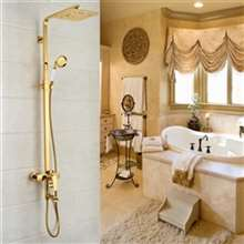 Arsizio Classic Luxury Gold Brass Bathroom Shower Set