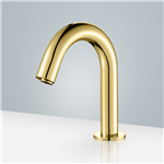 Brio Commercial Gold Touch less Volume Sensor Hands Free Faucet